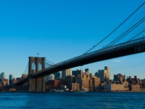 view of the Brooklyn Bridge in NYC