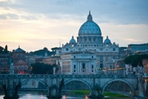 basilica of Saint Peter in the evening light