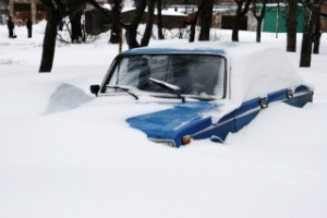 Snowfall extremely situation, cars in the snow, Europe, Ukraine 18,12,09